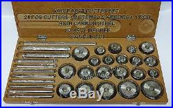 High Carbon Steel Valve Seat Cutter Set 21 Cutters + 8 Stems+2 Arbor +2 Rods