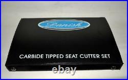 KAWASAKI 900-1000 4 Cyl VALVE SEAT CUTTER KIT CARBIDE TIPPED 3 ANGLES CUT