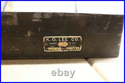 KO Lee Knock Out R203 Valve Seat Insert Cutter Tool Set Heavy Set With Case USA