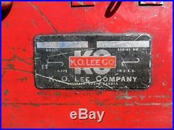 K. O. LEE R503 Valve Reseater Kit Hardened Valve Seat Insert Cutter R55V Grinder