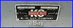 K O Lee Valve Seat Reseater Cutting Cutter Equipment