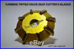 Motorcycles, Atv Heads Valve Seat Cutter Set Carbide Tipped + Reams +guide Stems