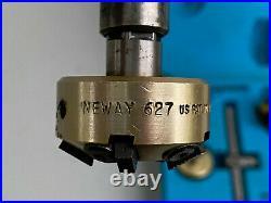 NEWAY VALVE SEAT CUTTER KIT SET Five Heads 0, 30 & 45