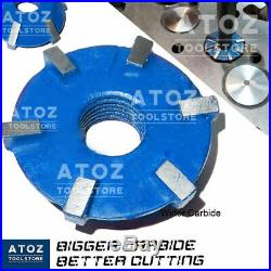 NEW 21x Carbide Tipped Valve Seat Face Cutters 30 45 70 (20 Deg) + 8 STEMS ARBOR