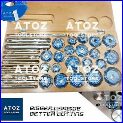 NEW 32x Carbide Tipped Valve Seat Face 21 Cutters 30 45 70 (20 Deg) STEM HANDLES