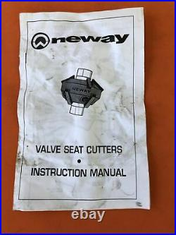 Neway Valve Seat Cutter Kit for Harley Davidson KM 2451 Slightly Used