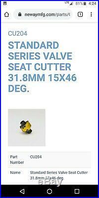 Neway valve seat cutter set