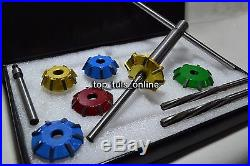 Small Block Chevy Heads VALVE SEAT CUTTER KIT 3 ANGLE CUT CARBIDE TIPPED