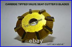 Small Block Chevy Heads VALVE SEAT CUTTER KIT 3 ANGLE CUT CARBIDE TIPPED 1.940