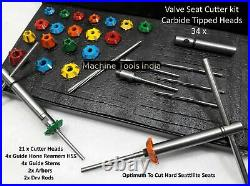 VALVE SEAT CUTTER KIT CARBIDE TIPPED For JAPAN, KOREA, ITALY BIKE HEADS
