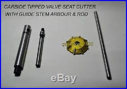 VALVE SEAT CUTTER KIT CARBIDE TIPPED For PROFESSIONALS & HOBBYIST