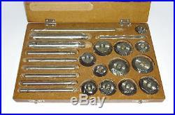 VALVE SEAT CUTTER SET 12 PCS CUTTER HIGH GRADE CARBON STEEL WOODEN BOX@oi