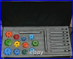 VALVE SEAT CUTTER SET 24 pcs CARBIDE TIPPED CHEVY, FORD, CLEAVLAND