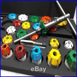 VALVE SEAT CUTTER SET CARBIDE TIPPED 25+8+2+2 TOTAL 40pc FOR CHRYSLER, GMC HEADS