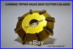 VALVE SEAT CUTTER SET CARBIDE TIPPED 25 x CUTR HEADS + 10 GUIDE STEMS PERFORMANC