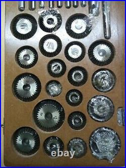 VALVE SEAT & FACE CUTTER SET OF 20 PCs FOR AUTOMOTIVE INDUSTRIES (WOODEN BOX)