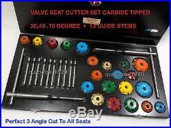 VOLKSWAGEN, SUZUKI, TOYOTA, NISSAN 3 Angle Cut Valve Seat Cutter Set Carbide Tiped