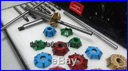 VW BUG 3 ANGLE CUT CARBIDE TIPPED VALVE SEAT CUTTER KIT 1200,1300,1600 CC Heads