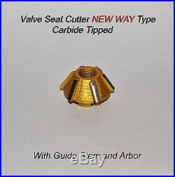 Valve Seat Cutter Kit Carbide Tipped For Harley Davidson, Indian American Bikes