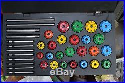 Valve Seat Cutter Set Carbide Tipped 37 For Chevy, Ford. Gmc, Caterpillar, Komtsu