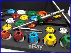 Valve Seat Cutter Set Carbide Tipped 40 Pcs For Chevy, Ford. Chrysler, Dodge