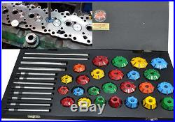 Valve Seat Cutter Tool Kit Carbide Tipped 37 Pcs For Vintage And Modern Engines