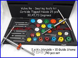Valve Seat Cutters Carbide Tipped Economical Kit Petrol, Diesel, Gas All Heads