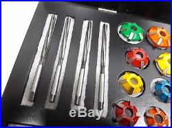 Valve Seat Cutters Kit Carbide Tipped To Cut Hard Seats 3 Angles Cut 30-45-60 Dg