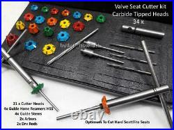 Valve Seat Cutting System For Professionals Engines Restores 34 Pcs Kit