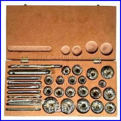 Valve Seat & Face Cutter Set 20 Pcs Set For Cars & Bikes In Wooden Box