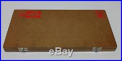 Valve Seat & Face Cutter Set 21 Pcs Set For Vintage Cars & Bikes in wooden box