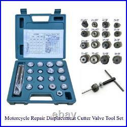 Valve Seat Reamer Motorcycle Repair Displacement Cutter Valve Tool Set Stainless