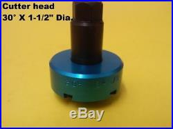 Valve seat cutter 30°/ 1-1/2 Dia. For 3/8 top pilot, precision made