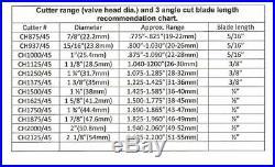 Valve seat cutter 45°-1 1/2Dia 3/8 top pilot, aluminum body, precision made