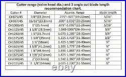 Valve seat cutter 45°-1 3/4 Dia. For 3/8 top pilot, precision made