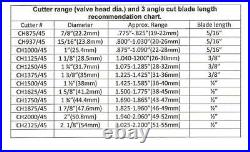 Valve seat cutter 45°-1 5/8 Dia. For 3/8 top pilot, precision made