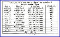 Valve seat cutter 45°-1 7/8 Dia. For 3/8 top pilot, precision made