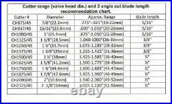 Valve seat cutter 45°-2Dia 3/8 top pilot, aluminum body, precision made