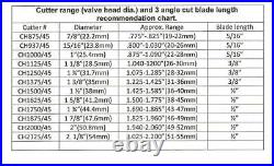 Valve seat cutter 45°-2 1/2 Dia. For 3/8 top pilot, precision made