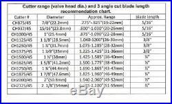 Valve seat cutter 45°-2 1/4 Dia. For 3/8 top pilot, precision made