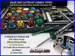 Valve seat cutter kit Go Kart Mower Motorcycle ATV 3 Angle Valve Job