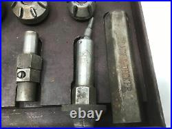 Vintage Black & Decker Valve Seat Grinder Cutters In Case Free Ship