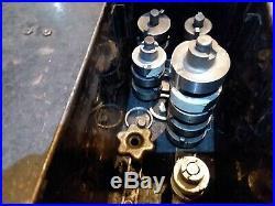 Vintage KWIK-WAY Valve Seat Cutter Set, Metal Box, 29 Cutters
