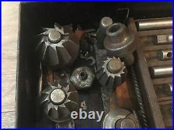 Vintage Kwik Way Kwikway Valve Seat Grinder Cutters Guides Reamers In Case
